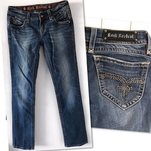 Rock Revival Pat straight Jeans Sz 27